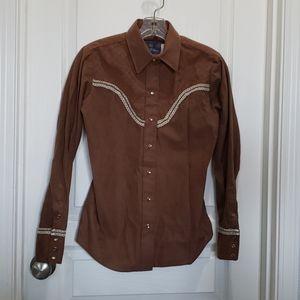 Panhandle slim M western snap button long sleeve